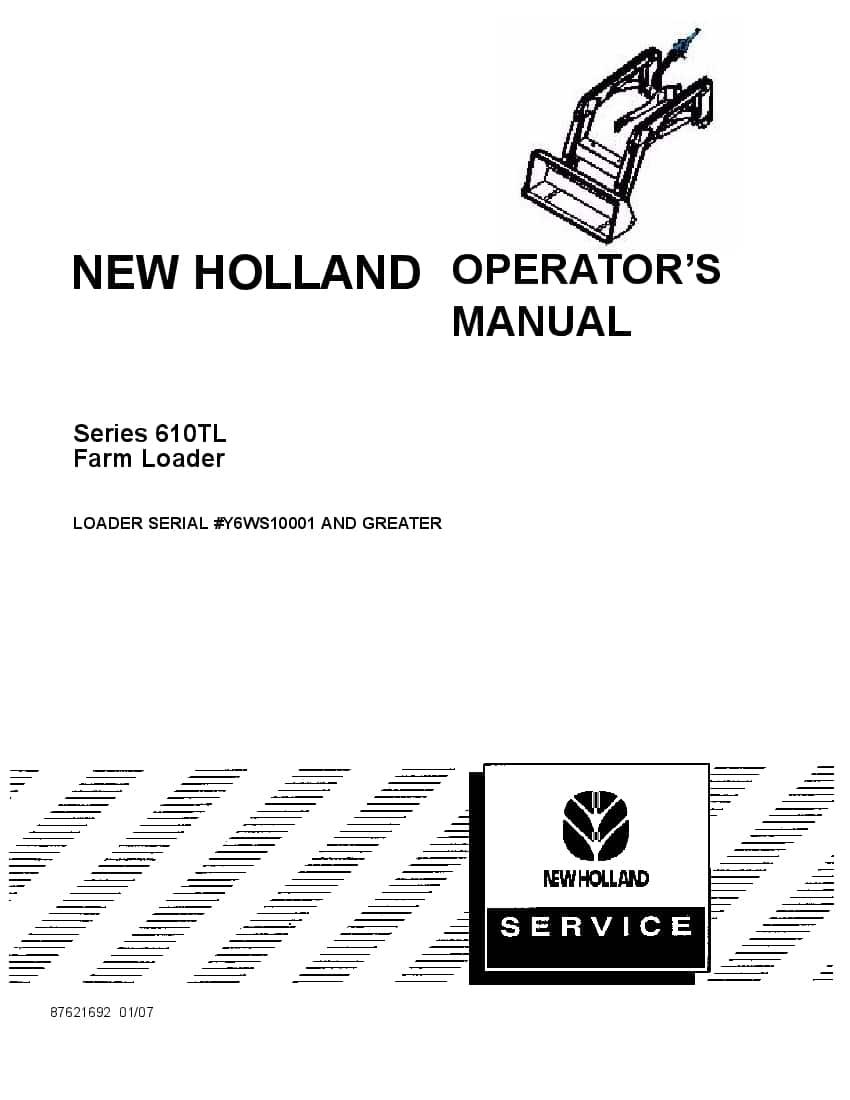 New holland 610TL Farm Loader for TT45A & TT50A Tractors