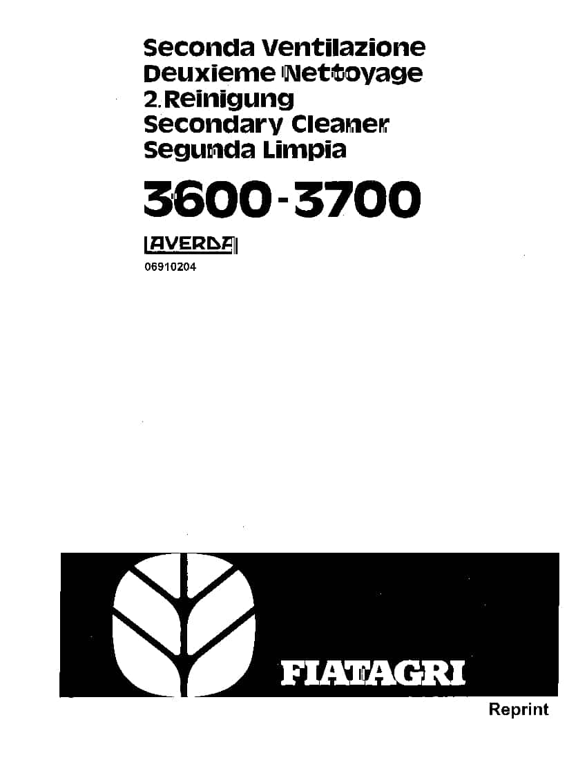 New holland Fiat 3600 3700 Laverda Secondary Cleaner