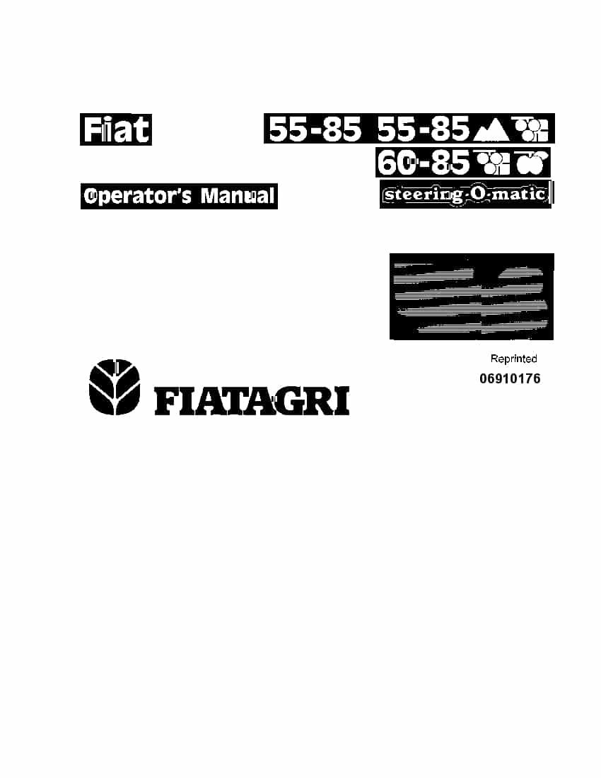 New holland Fiat 55-85, 60-85 Crawler Tractors operator