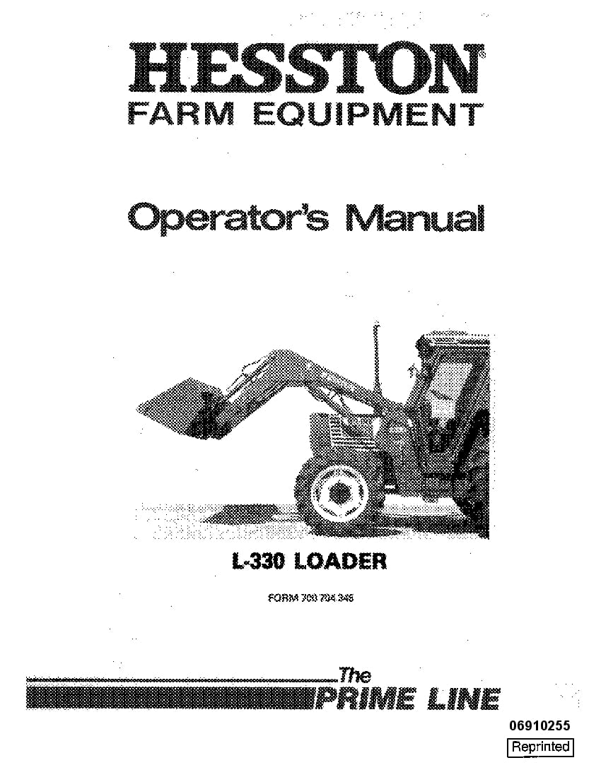 New holland Fiat Hesston 700704345 L330 Loader operator