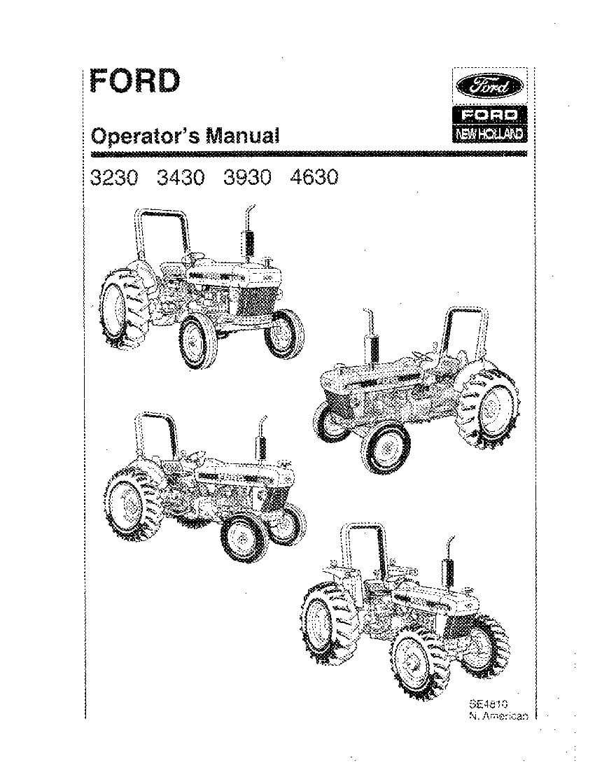 New holland Ford 3230 3430 3930 4630 Tractor operator