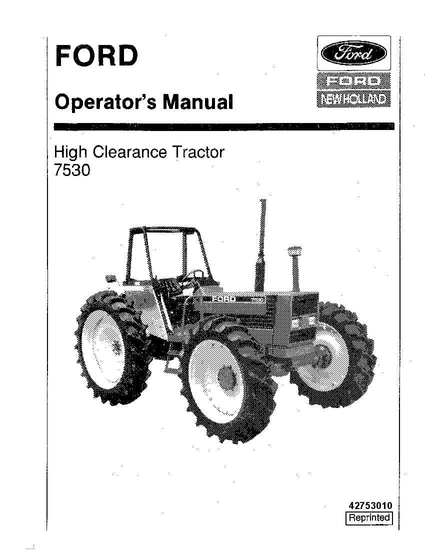 New holland Ford 7530 High Clearance Tractor operator