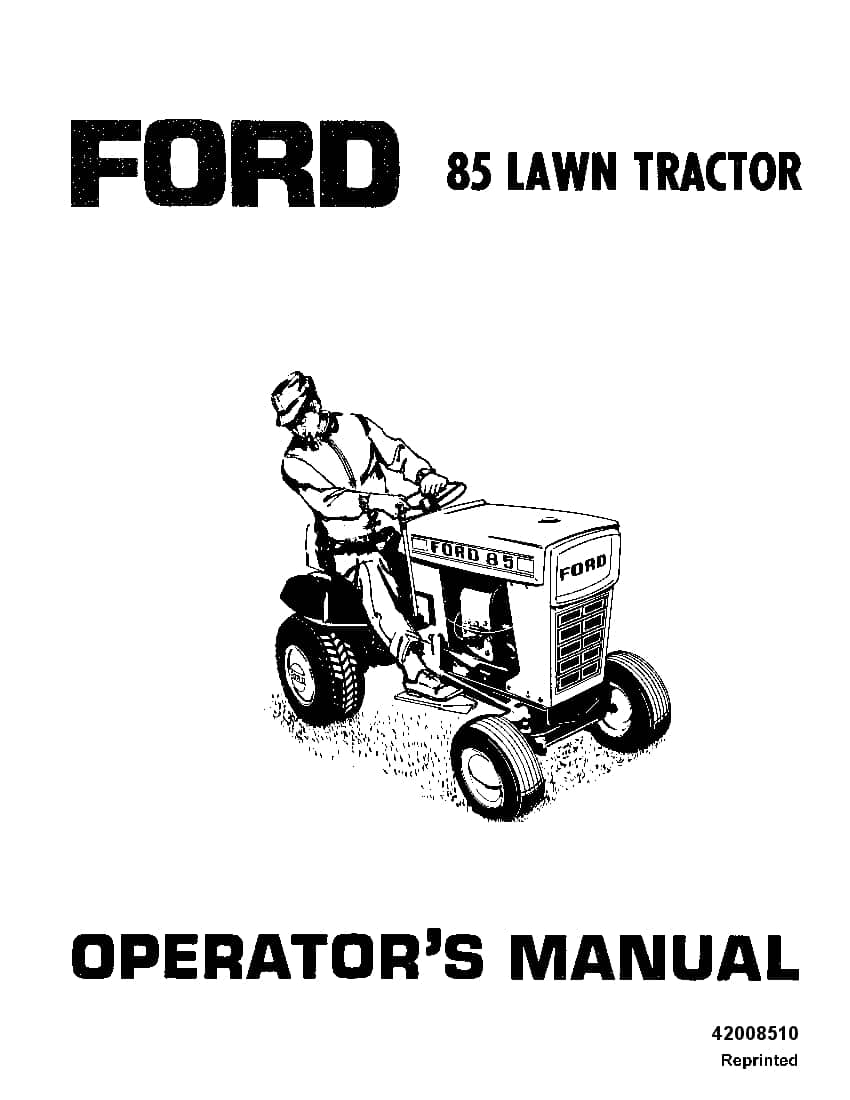 New holland Ford Ford 85 Lawn Garden Tractor operator
