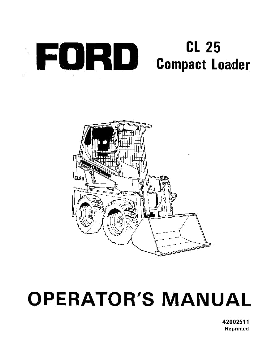 New holland Ford SE4361 CL25 Compact Loader operator