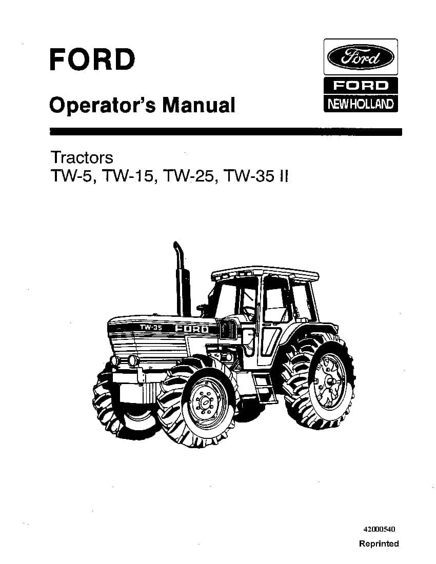 New holland Ford TW5, TW15, TW25, TW35 II Tractors