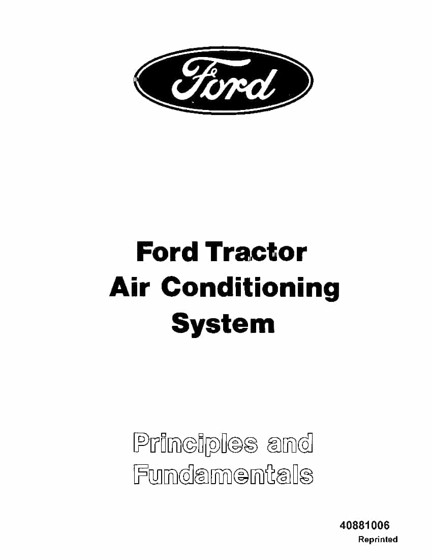 New holland Ford Tractor AC System operator manuals PDF