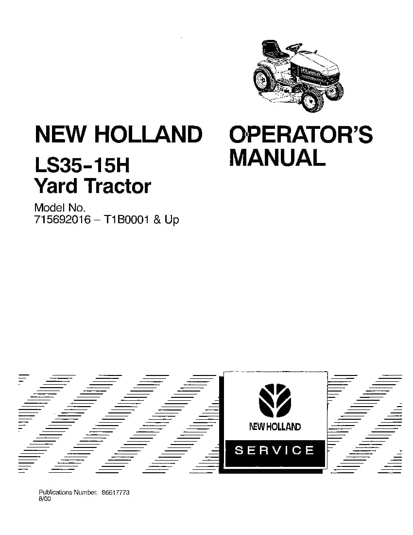 New holland LS35 15h Yard Tractor 715692016 operator