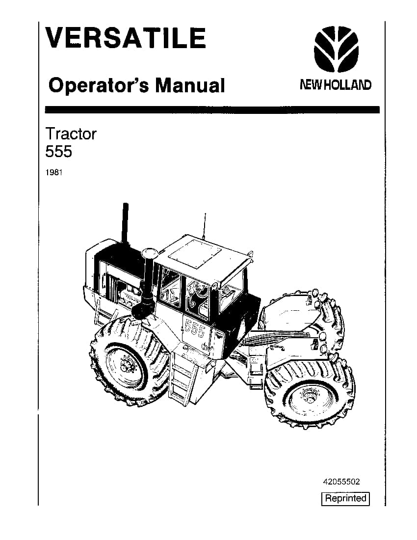 New holland Versatile V1051 Pu 555 4WD Tractor 1981