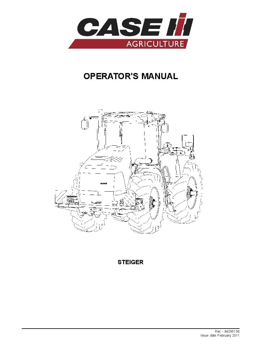 Case Steiger 350, 400, 450, 500, 550, 600 Tractor