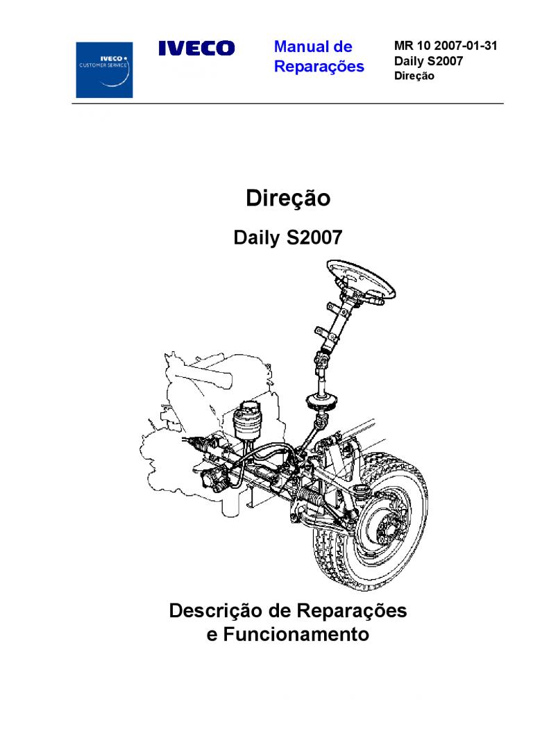 Iveco MR 10 Daily S2007 Direcao Portuguese Manual de