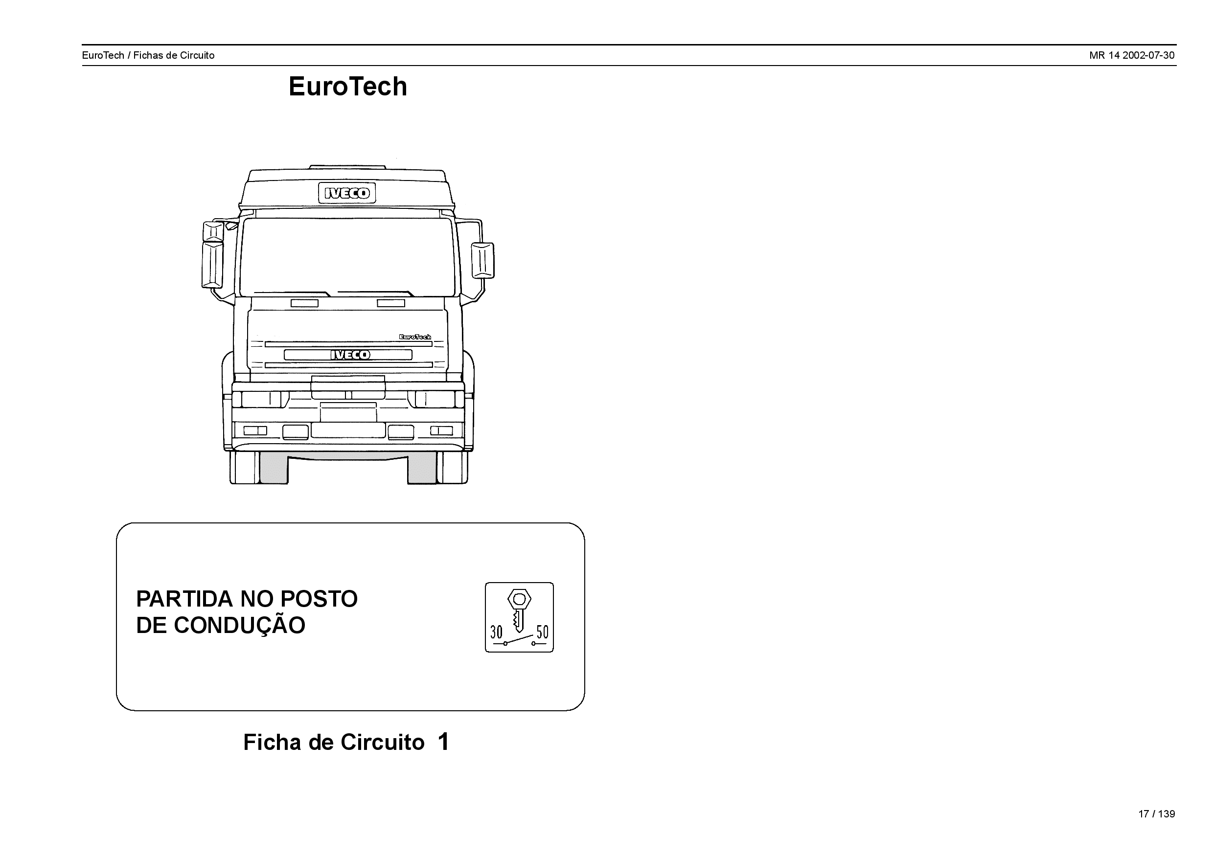 Iveco MR 14 EuroTech Fichas de Circuito Portuguese Manual