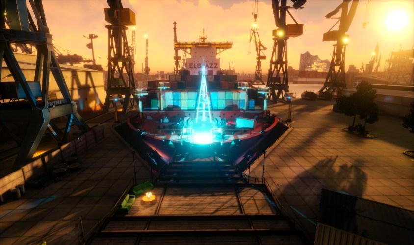 ELBJAZZ virtuell 2021 - virtuelle Werft. Foto: © Noys VR