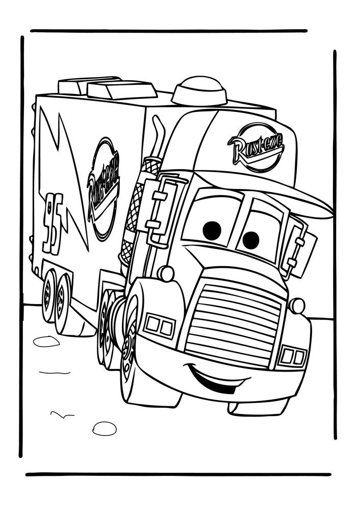 Kleurplaten Vrachtwagens Kleurplaat Vrachtwagen Scania