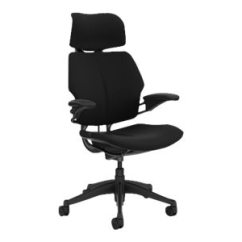 Freedom Task Chair With Headrest Dining Table Chairs For Sale Humanscale Lotus Black F211gk101