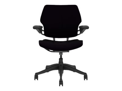 freedom task chair with headrest stacking sling grey humanscale f211gw101