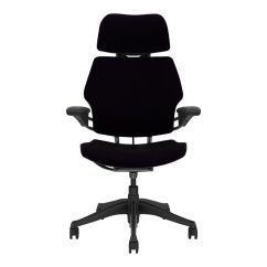 Freedom Task Chair With Headrest Plus Size Folding Chairs F211gv101 Gf Humanscale Vellum Black Macconnection