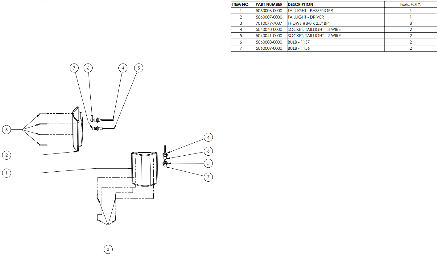 hight resolution of assy tail light