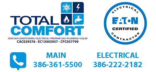 Total Comfort handles all electrical needs in the Ormond Beach area.