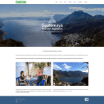 Guatemaya Spanish Academy website before GeneratePress theme replication