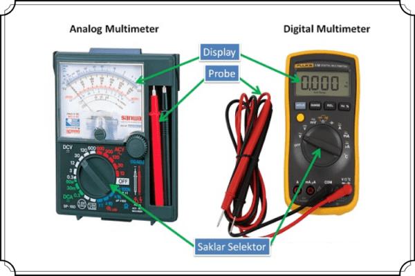 perbedaan Avometer Digital dan analog