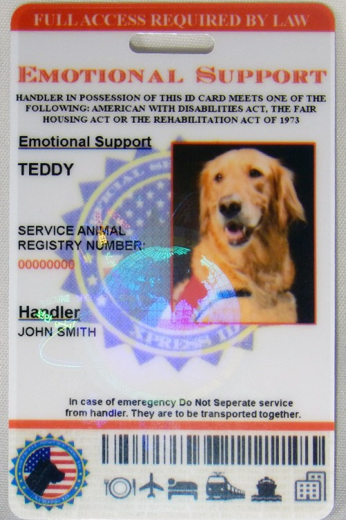 Emotional Support Animal ID Card   Free Access To Animal ...