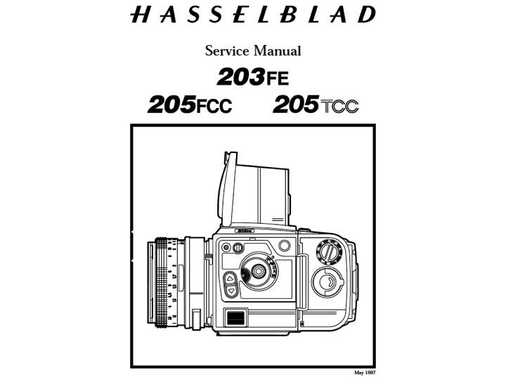 US9.99: Hasselblad 203FE / 205 FCC / 205 TCC Service