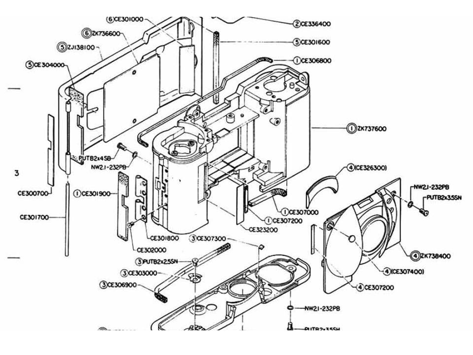 US$9.99: Olympus XA Repair Service Manual with Exploded