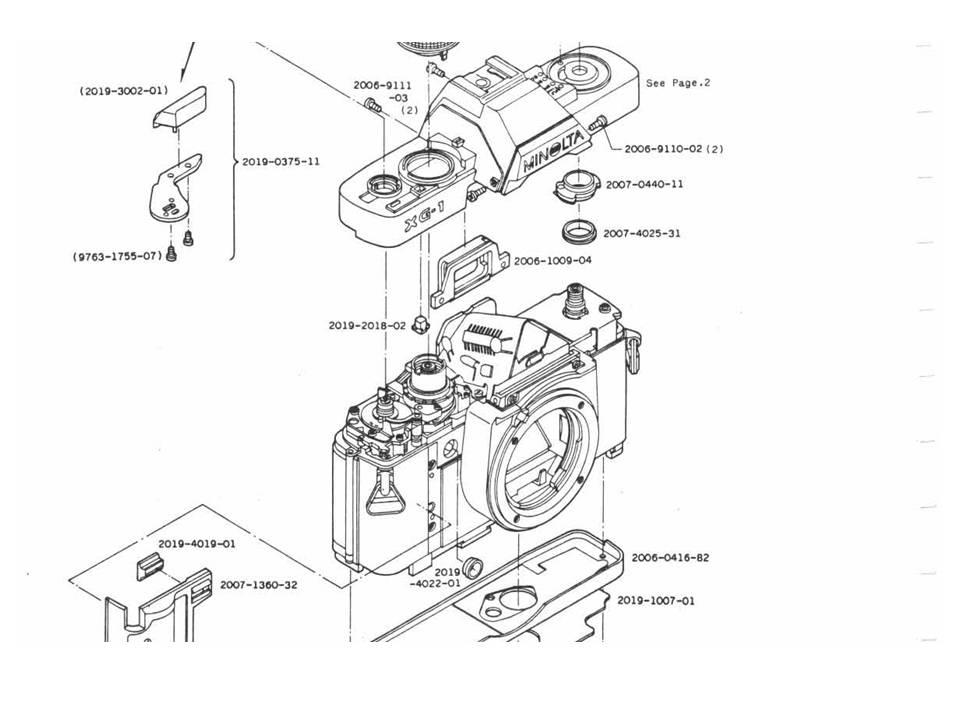 US$9.99: Minolta XE / XG SLR Repair Manual Package