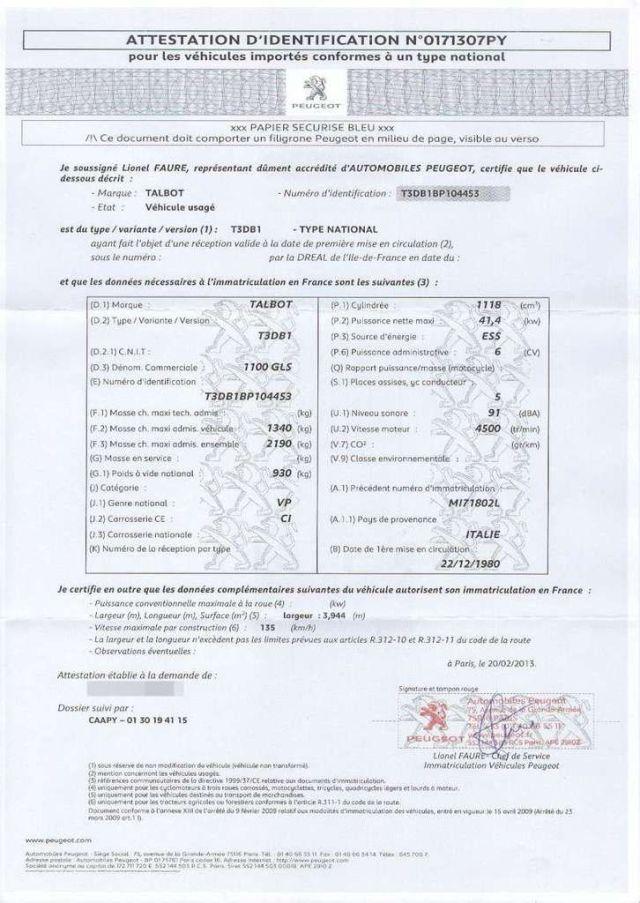 Qu'est-ce que le certificat de conformité du véhicule ?