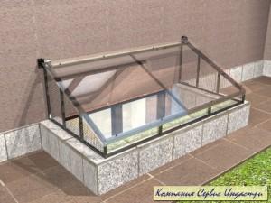 Тип 10Приямок с открыванием с покрытием стекла закаленного триплекса