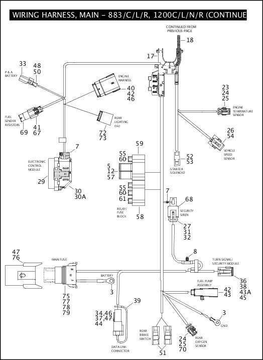99451-08a_486218_en_us - 2008 sportster models parts catalog - harley wiring  harness diagram 1992 1200
