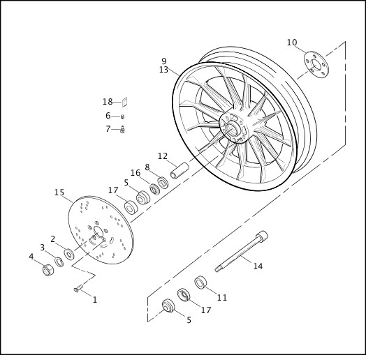 Wiring Diagram: 6 Harley Rear Wheel Assembly Diagram