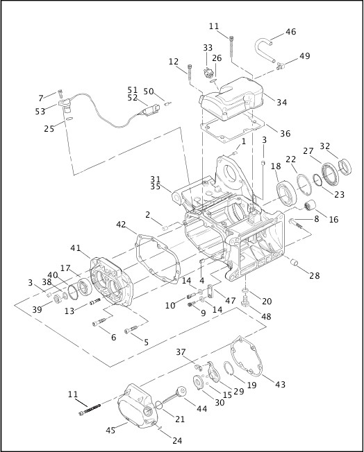 [ZS_5601] Harley Davidson Transmission Diagrams
