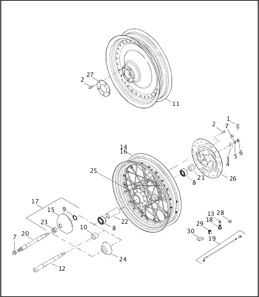 Harley Davidson Rear Wheel Assembly Diagram