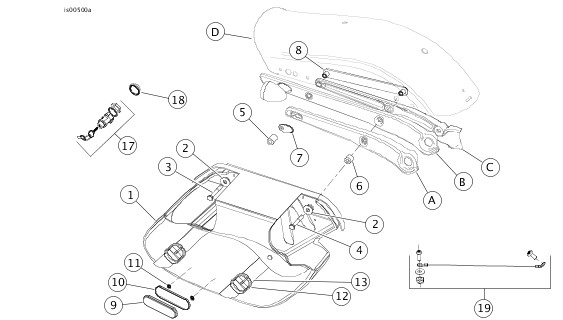 Harley Saddlebag Hardware Parts Diagram. Engine. Auto