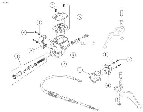 master cylinder diagram harley