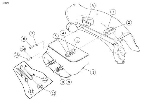 Harley Saddlebag Hardware Parts Diagram. Engine. Auto