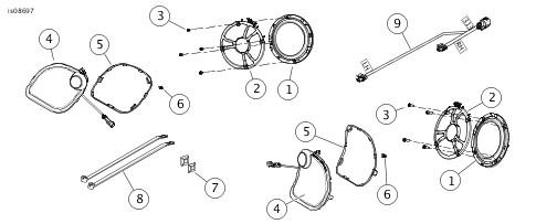 harley rear speaker wire harness