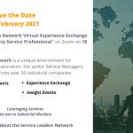 SLN Virtual Experience Exchange: The Data Savvy Service Professional – 18 Feb 2021