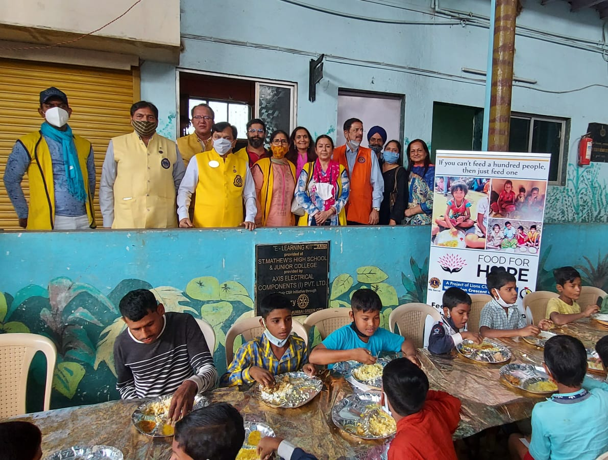 Daily Meal Program by Lions and ISKON initiates.