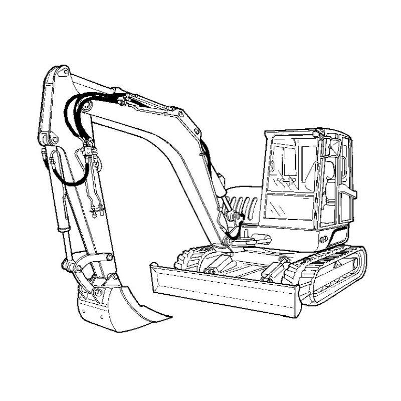 Bobcat Crawler Excavator (ZX75 ZX125 Series) Service and