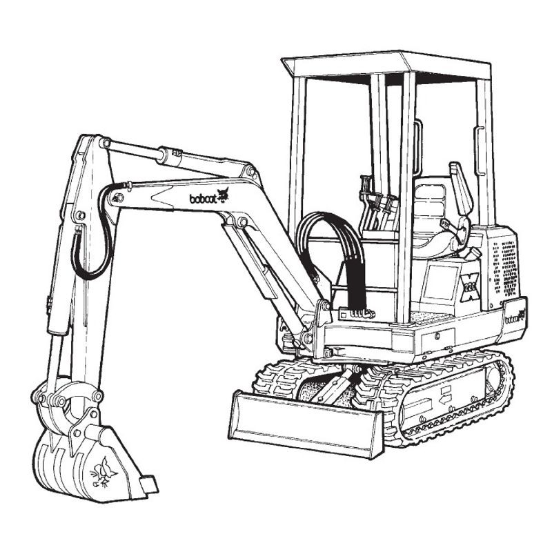 Bobcat Excavator (220 225 231 Series) Service and Owners