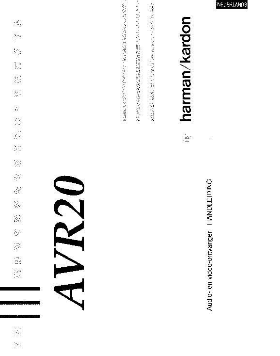 Harman kardon avr 200 service manual