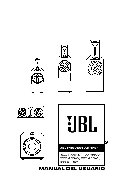 JBL 1400 ARRAY (SERV.MAN4) User Guide / Operation Manual