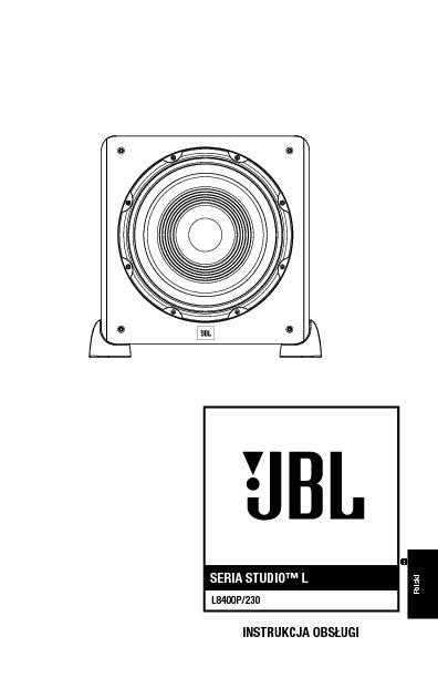 JBL L8400P (SERV.MAN10) User Guide / Operation Manual