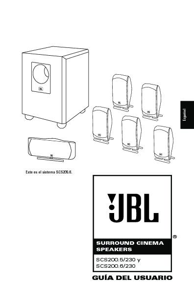JBL SCS 200 (SERV.MAN3) User Guide / Operation Manual