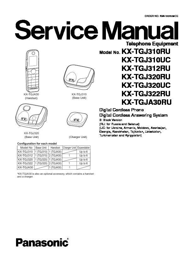 Panasonic KX-TGJ310RU, KX-TGJ312RU, KX-TGJ320RU, KX