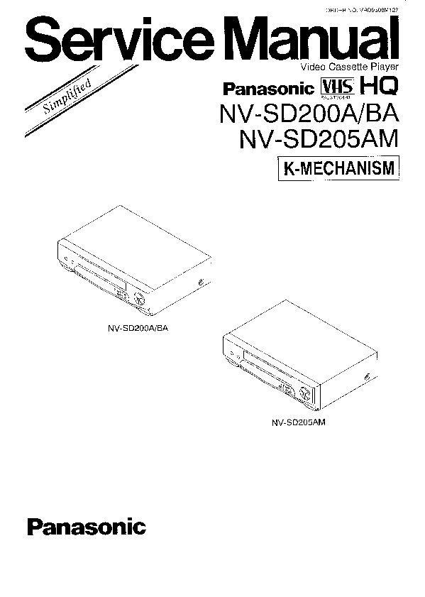 Panasonic NV-SD205, NV-SD450EU Service Manual Supplement