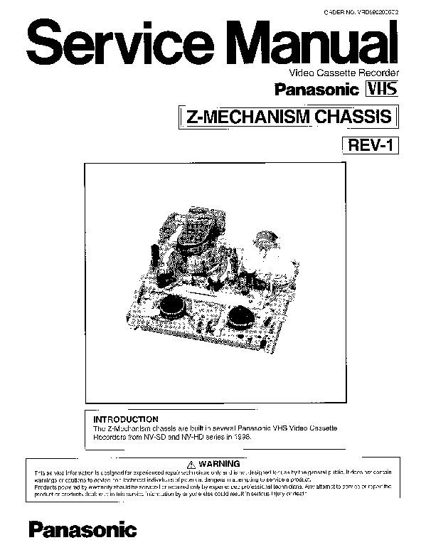 Panasonic NV-SV120EB, NV-SV120EC, NV-SV120EP, Z-MECHANISM