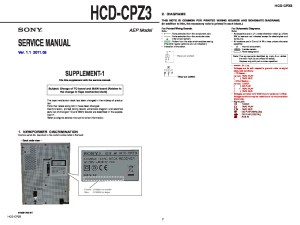 Sony HCDCPZ3 Service Manual  FREE DOWNLOAD